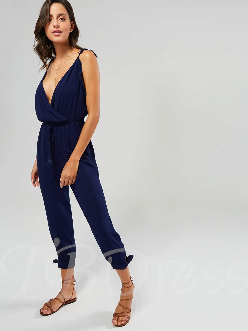 Plaid Zipper Skinny Spaghetti Strap Women's Jumpsuit