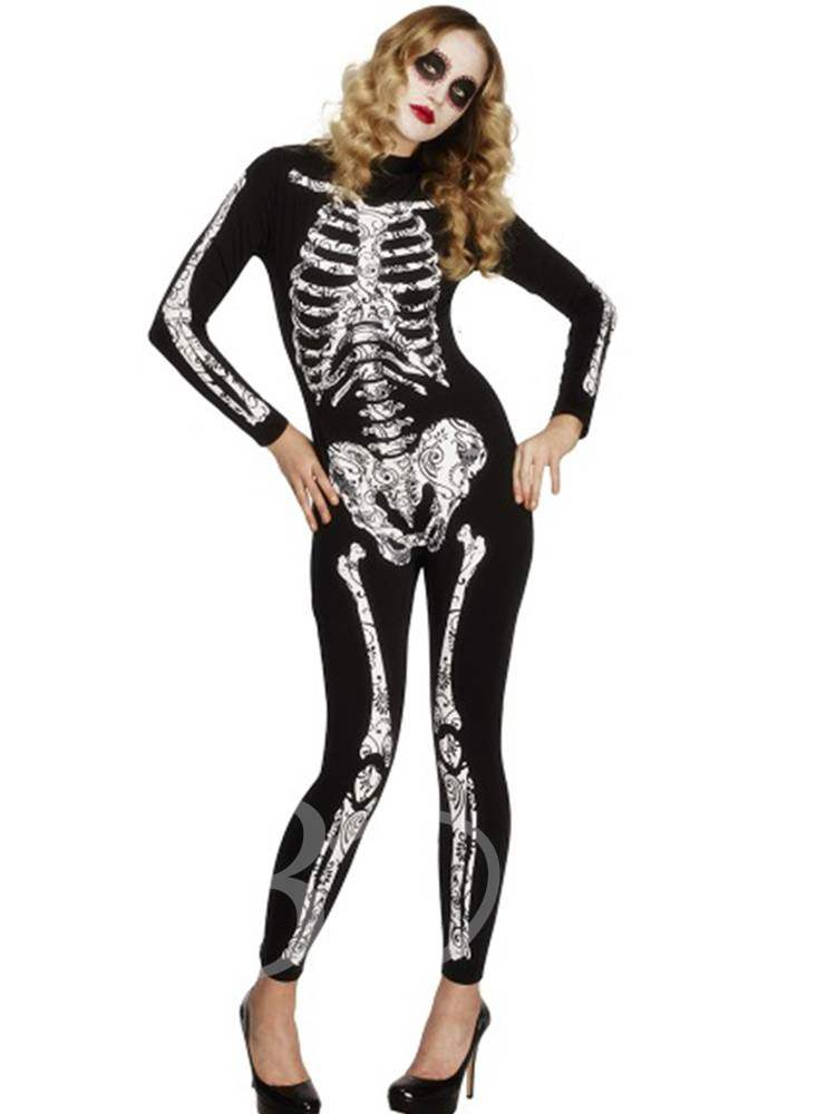 Skull Cosplay Witch Zombie Halloween Costume