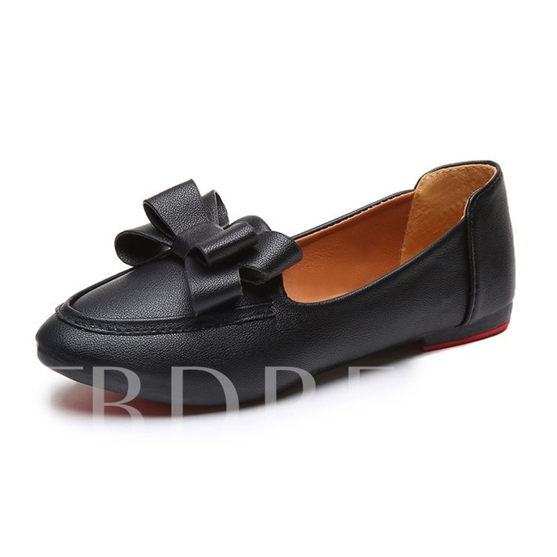 Buy Bow Round Toe Block Heel Slip-On Casual Women's Flats, Spring,Summer,Fall, 13340820 for $20.82 in TBDress store