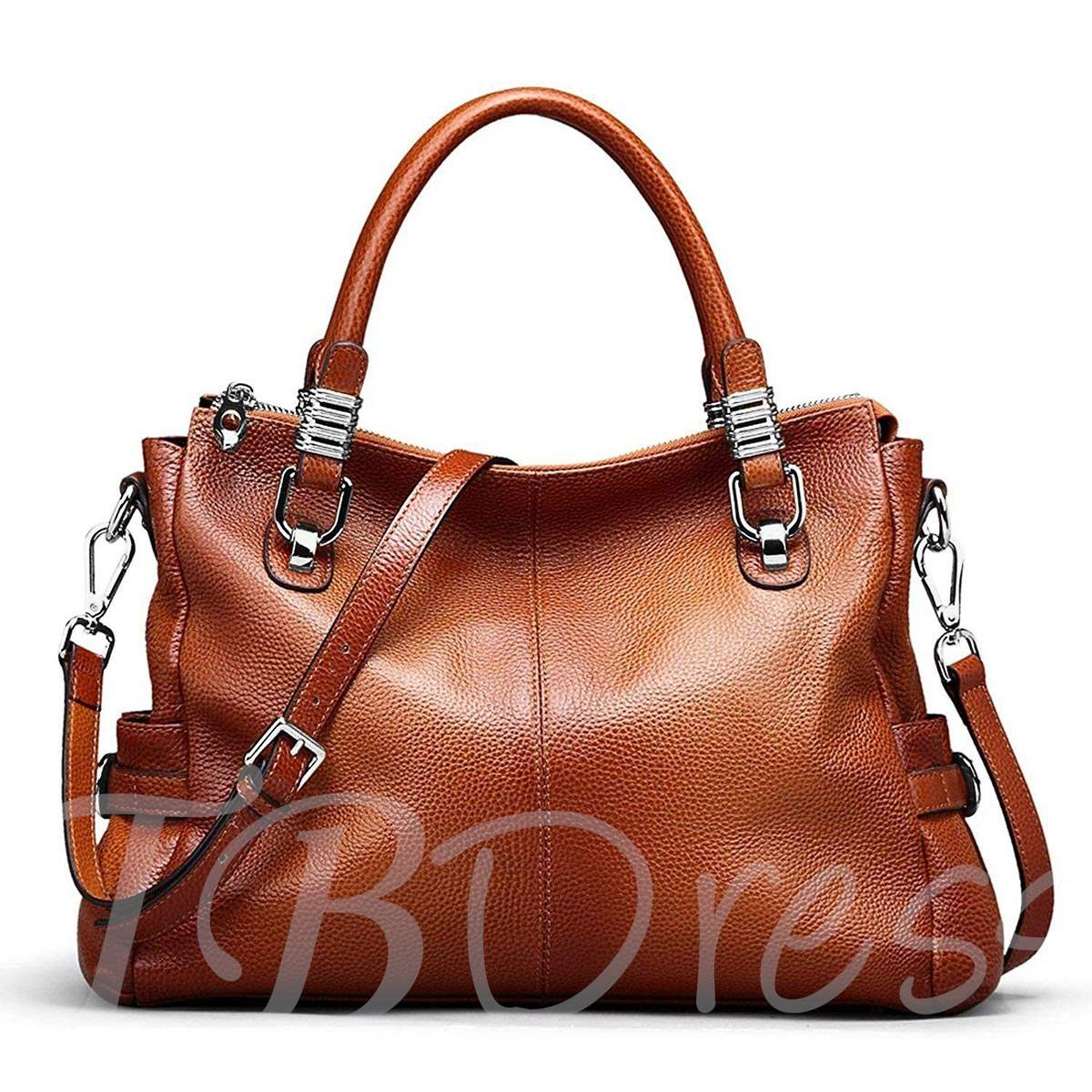 Modern Casual Leather Belt Decorated Tote Bag