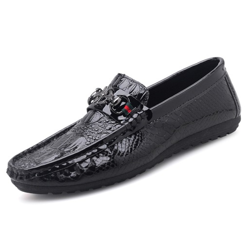 Round Toe PU Slip-On Thread Sequin Trendy Men's Loafers