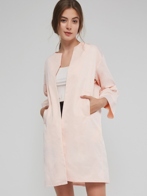 Flare Sleeve Slim Nine Points Sleeve Mid-Length Women's Overcoat