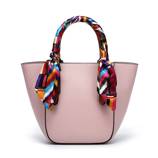 Plain PU Thread Barrel-Shaped Tote Bags Scarf