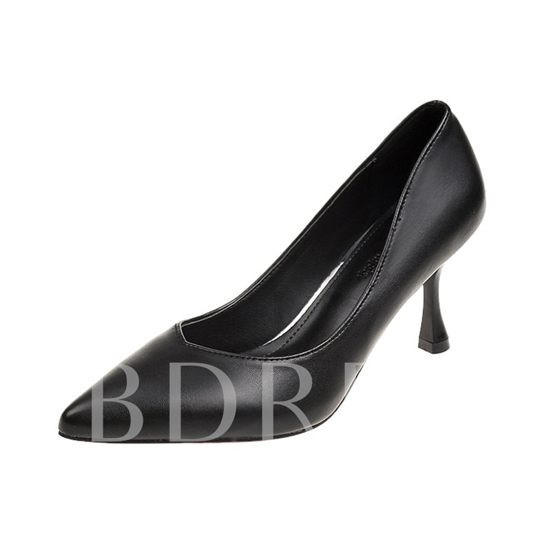 Buy Slip-On Pointed Toe Stiletto Heel Low-Cut Comfy Women's Pumps, Spring,Summer,Fall, 13465006 for $35.28 in TBDress store
