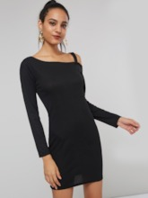 Robe pull femme creuse manches longues