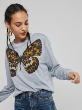 Pullover Butterfly Print Women's Hoodie