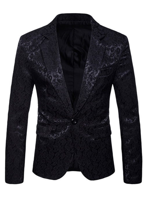Slim Notched LapelOne Button Men's Blazer
