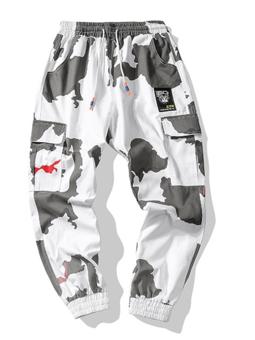 Loose Mid-Waist Camouflage Men's Casual Pant