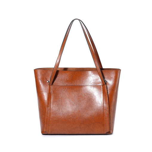 Occident Style Glossy Artificial Leather Women Tote