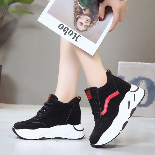 Lace-Up Round Toe Platform Casual Women's Sneaker