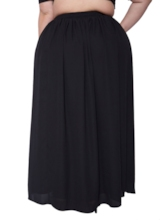 Plus Size A Line Pleated Split Women's Skirt