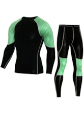 Cycling Clothing Sets Color Block Breathable Long Men's Sports Set