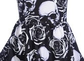 Scoop Neck A Line Printed Cocktail Dress