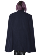 Plus Size Cape Double-Breasted Button Mid-Length Women's Overcoat