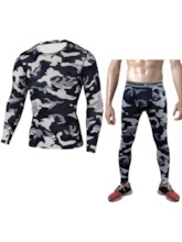 Print Pullover Quick Dry Long Men's Pajama Set