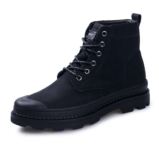 Lace-Up Front Round Toe Versatile Ankle Martin Boots for Men