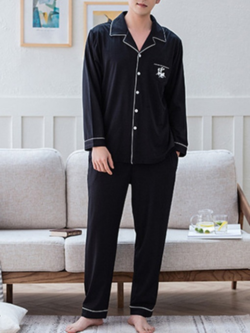 Animal Single-Breasted Thin Men's Pajama Set