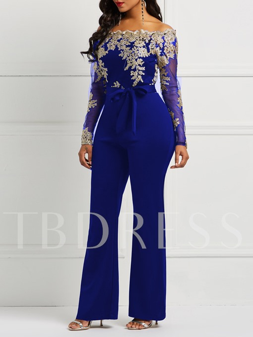 Lace-Up Full Length Casual Slim Women's Jumpsuits