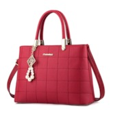 PU Quilted Lining Plain Square Tote Bags