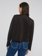 Plain Wave Cut Wrapped Women's Jacket