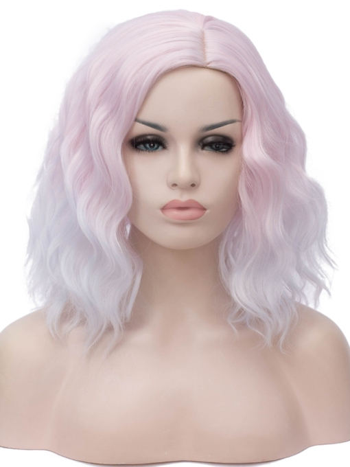 European and American fashion short noodles roll wig Halloween hot sale factory direct sales 16 Inches Wigs