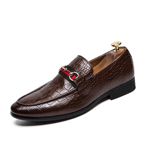 PU Slip-On Round Toe Professional Men's Oxford