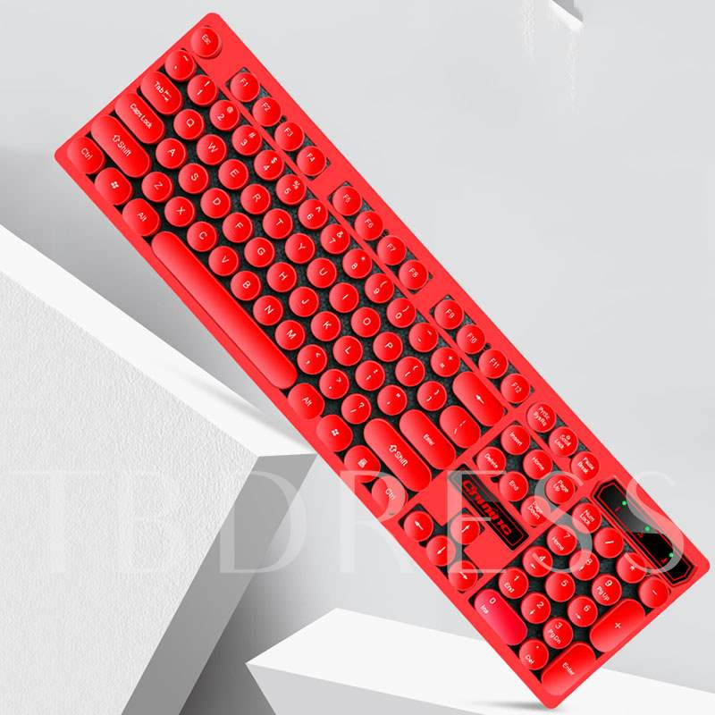 V8 Backlit Mechanical Keyboard Game Keyboard Retro Punk Style