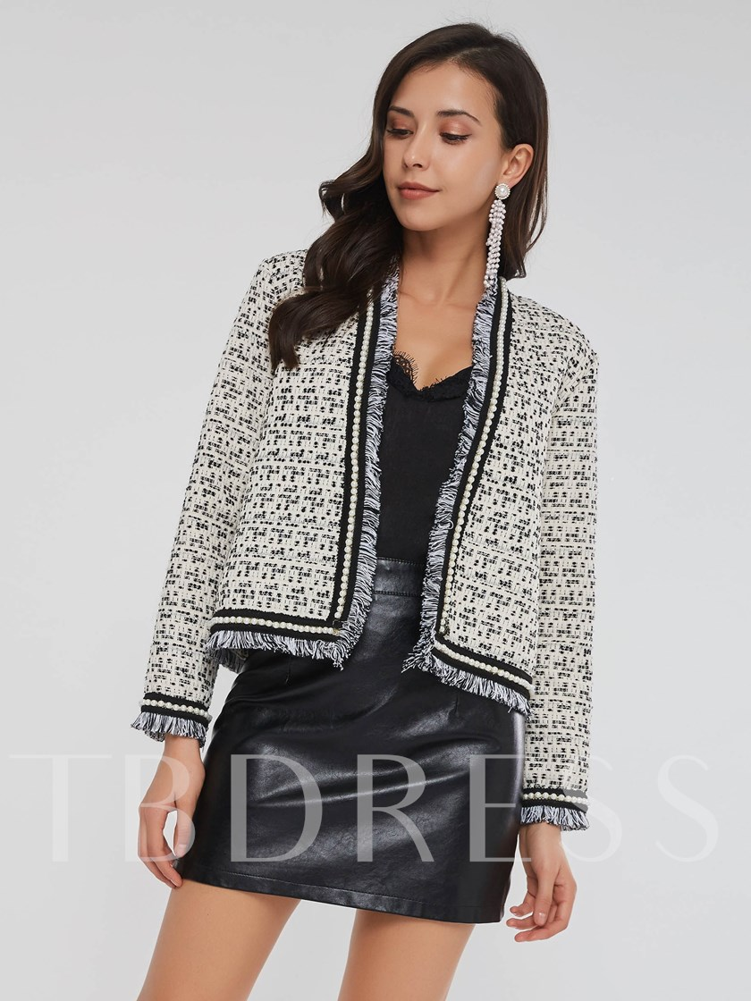 Tassel Slim Beading Decorative Women's Coats