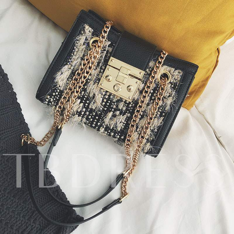 PU Patchwork Rectangle Crossbody Bags