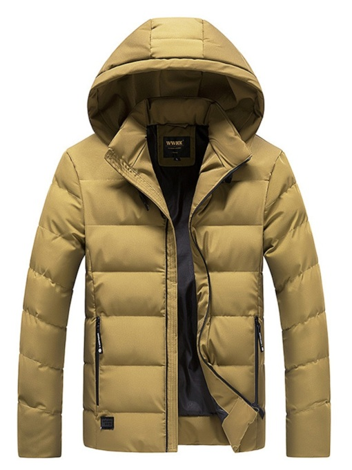 Slim Thick Stand Collar Plain Men's Down Jacket