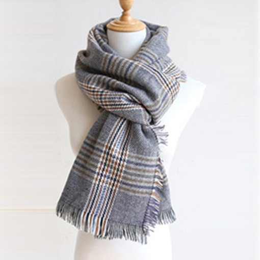 Plaid Cotton Warmth Shawl Scarf