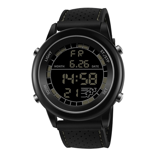 Round Chronograph Digital Display Men's Watche