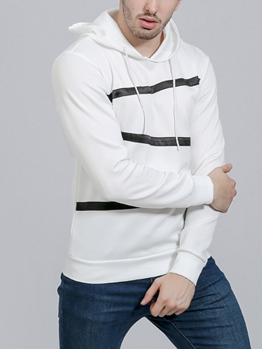 Slim Color Block Patchwork Casual Men's Hoodie