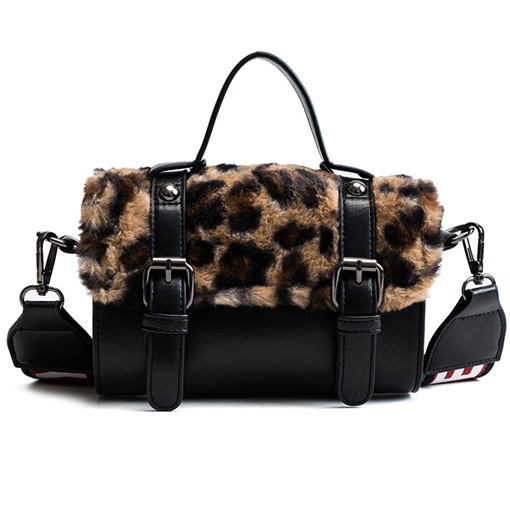 Thread Leopard Rectangle Crossbody Bags