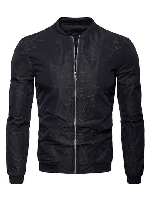 Slim England Stand Collar Zipper Men's Jacket