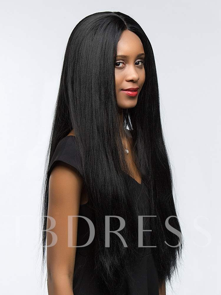 Long Straight Synthetic Hair Lace Front Cap Women Wigs 28Inches