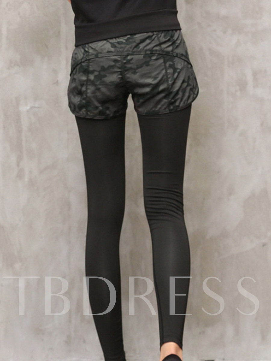 Patchwork Camouflage Polyester Quick Dry Winter Full Length Female Pants