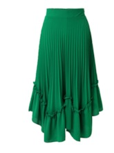 Chiffon Falbala Pleated Women's Maxi Skirt
