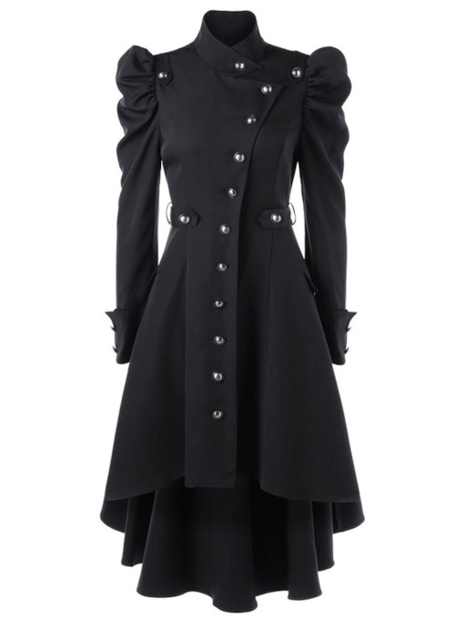 Single-Breasted Long Long Sleeve Women's Trench Coat