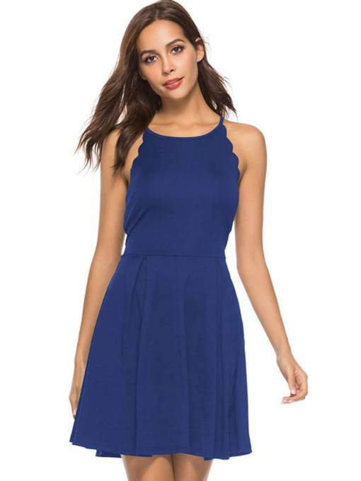 Summer Sleeveless Elegant A-Line Day Dress