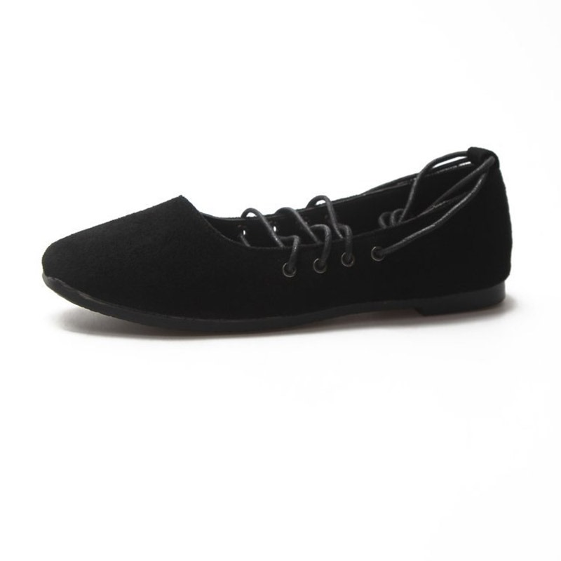 Buy Lace-Up Block Heel Round Toe Ballet Flat Shoes for Women, Spring,Summer,Fall, 13346709 for $28.67 in TBDress store