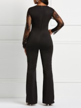 Patchwork Full Length Plain Sexy Skinny Women's Jumpsuits