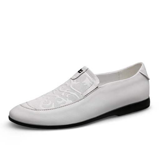 Plain Low-Cut Upper Round Toe Unique Men's Prom Shoes
