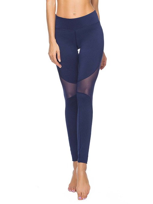 Quick Dry Solid Patchwork Womenp's Sports Leggings