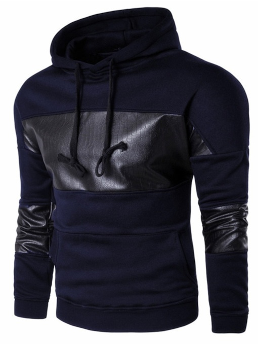 Pullover Patchwork Pullover Color Block Hooded Men's Hoodie