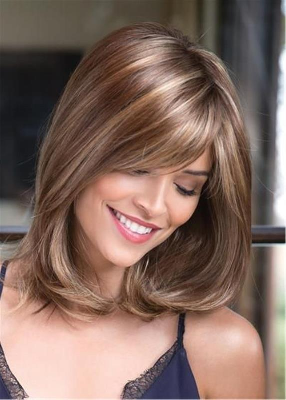 Ladies Wigs For Sale, Female Synthetic Hair Capless 14 Inches 120% Wigs