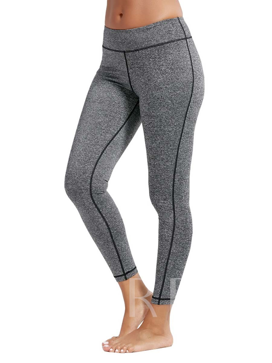 Breathable Solid Plain Sports Leggings