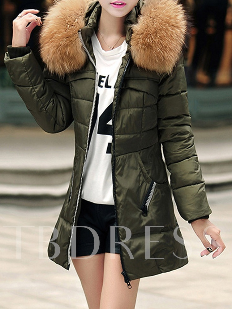 Faux Fur Thick Winter Women's Cotton Padded Jacket