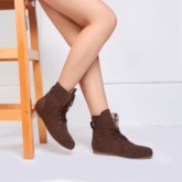 High-Top Lace-Up Women's Ankle Boots