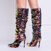 Sequins High Heel Fashion Boots Ladies